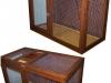 klec-5, vel. 120x60x80cm, s podlahou a plnou zadní stěnou, cena 2400,-Kč, bez nátěru 2000,-Kč.