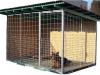 kotec 5 - vel. 3x2m, s podlahou, střecha spáditá vzad, pokryta bitumenovými vlnitými deskami, dřevěné díly bez nátěru-kromě ochranného nátěru rámu střechy a podlahy, kovové díly zinkované, cena 17.000,-Kč