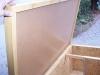 vnitřek - strop rovné střechy