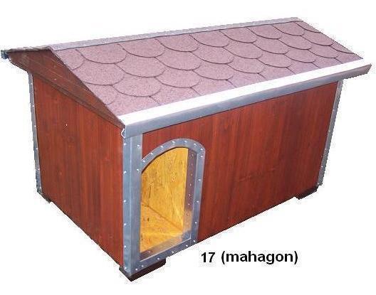 bouda 17 – příplatek: oplechování vchodu a hran, oblouk nahoře u vchodu, vykrojovaná šindelová krytina na střeše (bobrovka)