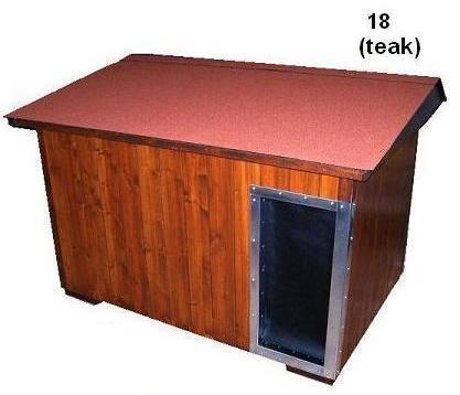 bouda 18 – příplatek: střešní pásová šindelová krytina Bituelast, oplechovaný vchod, závěs do vchodu