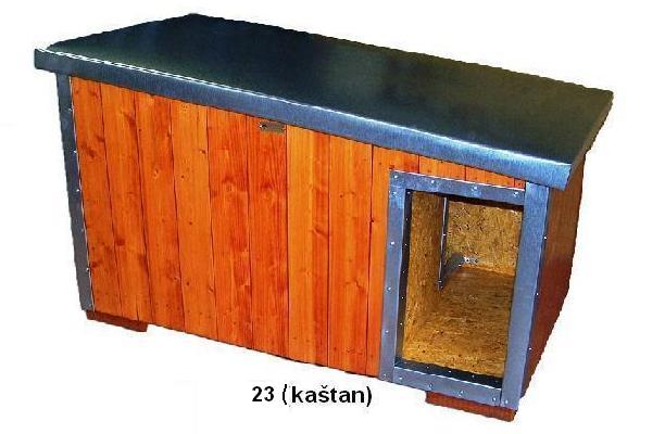 bouda 23 – příplatek: oplechovaný vchod a celkové oplechování střechy (individuální výpočet ceny)