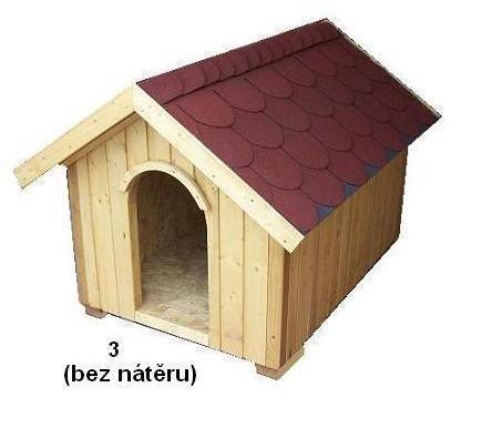 bouda 3 – příplatek: střešní vykrojovaná šindelová krytina (bobrovka), vchod nahoře do oblouku