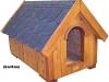 bouda 21 – příplatek: střešní vykrojovaná šindelová krytina (bobrovka), oblouk u vchodu