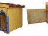bouda 14 – příplatek: sedlová střecha se štítem vepředu, oblouk u vchodu nahoře, oplechování vchodu, mříž, vykrojovaná šindelová krytina na střeše (bobrovka)
