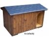 bouda 15 – příplatek: oblouk u vchodu nahoře, vykrojovaná šindelová krytina na střeše (bobrovka)