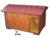 bouda 16 – příplatek: oblouk u vchodu nahoře, jmenovka, vykrojovaná šindelová krytina na střeše (bobrovka)