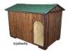 bouda 2 – příplatek: vchod nahoře do oblouku, na střeše šindelová vykrojovaná střešní krytina (bobrovka)