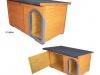 bouda 22 – příplatek: střešní pásová šindelová krytina Bituelast, oplechovaný vchod a oblouk u vchodu nahoře