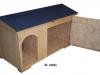 bouda 24 – příplatek: oblouk u vchodu nahoře a na střeše vykrojovaná šindelová krytina (bobrovka)