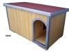 bouda 30-příplatek: oblouk u vchodu nahoře, oplechování vchodu a všech hran vč. střechy, pásová šindelová střešní krytina Bituelast (střecha má mírný spád vzad)