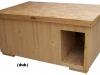 bouda 1-bouda v základním provedení, bez příplatků, vhodná např. do kotce nebo jinam, kde na ni neprší (jinak je zapotřebí střecha šikmá s krytinou)